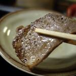 一升びん - 松阪牛のタンはしっかり焼いても美味