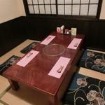 でん - 二階は座敷の個室です。お子様連れのお客様もよくご利用いただいています。