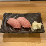 マグロ大使 - ・マグロ寿司 中トロ 2貫 580円
