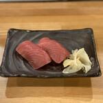 マグロ大使 - ・マグロ寿司 赤身 2貫 480円