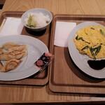 宝龍軒 - 餃子8個(\390)とニラ玉(\390)とライス(\150)
