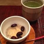 てんぷら みかわ - ランチ 黒豆のゼリー