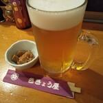 ききょう屋 - 生ビール