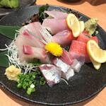 すしざむらい - 金目鯛とシマアジのお刺身
