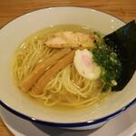 阿波尾鶏中華そば藍庵 - 料理写真:ミニ中華そば塩です☆ 2020-0804訪問