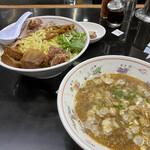 手打らーめん 勝龍 - つけ麺しょう油大盛 ¥1030