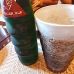 蔵KURA - ソフトドリンク ジンジャエール 陶器のタンブラーがいいね。