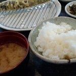 13456683 - 定食には 味噌汁 漬物 豆腐 ごはんがつきます