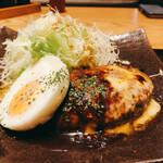 Tennosachiyamanosachi - チーズハンバーグ エッグトッピング
