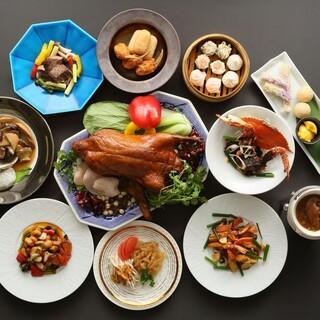 ホテルの本格中国料理の数々