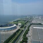 134577498 - 同じく50階からの眺め。マリンスタジアム側です。
