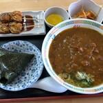 やまぶき - 料理写真:カレーラーメン定食900円