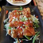 奉天飯店 - 奉天定食の油淋鶏ハーフ