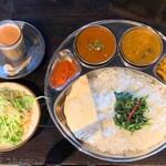 ヤニマヤ ネパールインドレストラン - 料理写真:ダルバートセット(マトン)