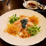 kawaramachibambi - 子持ち甘海老のお造りサラダ仕立て