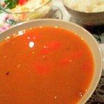 1346690 - ランチ850円(ヨーカイ豆のスープとハンガリーライス、サラダ)