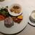 赤坂シュビア - 料理写真:白身魚の香草・チーズ・パン粉焼き・冷製ジャガイモのスープ・フリッタータ・ラタトゥイユ・サラダ・雑穀十六穀米添え