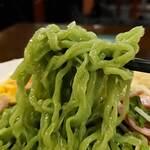 中華ごはん れんげ食堂 - 緑の麺