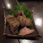 板そば蒼ひ - 大山鶏の肝煮