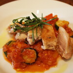 LEVEL - 佐賀 有明鶏のグリル 夏野菜のラタトゥイユ添え