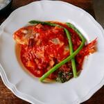 SATO - 海定食のメイン 干ダイと夏野菜の姿煮