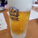 居酒家ねぎまみれ - ビール 500円