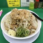 ラーメン つけ麺 熱く勢ろ - 料理写真:並盛「ニンニク・カラメちょい増し、野菜増し、あぶら増し増し」