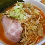 北海道ラーメン 赤レンガ - 味噌オロチョンラーメン(4倍)にネギトッピング
