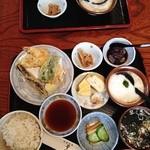 うなぎ 量深 - 麦とろ 天ぷら御膳