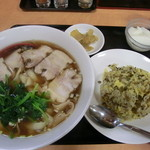 西安刀削麺 - ランチの高菜炒飯とミニ刀削麺~刀削麺と炒飯の逆バージョンは50円高くなる