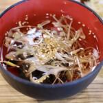 東浦ホルモン - わかめスープ