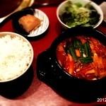 焼肉 穂坂 - スンドゥブ ランチ 1000円