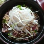 蕎麦の庄 長命庵 - 料理写真:'20/08/10 鰹のたたき丼