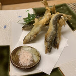 鮨の旦兵衛 - 稚鮎の天ぷら