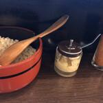 四國 - 天かす、生姜、七味