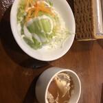 アンジェリー フレスカ - ランチセットのサラダとスープ