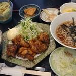 和食あおやま - 料理写真:日替わり定食 揚げ鶏の照り焼き