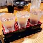 北海道さかな一途 直営魚問屋 - 利き酒セット