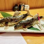 134663628 - 岐阜県和良川 和良鮎炭火焼