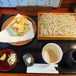 木挽庵 - 海老と夏野菜のかき揚げせいろそば