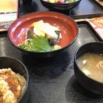 丸の内天ぷらめし 下の一色 - ミニ天丼と本日の日替わり海鮮丼