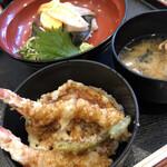 丸の内天ぷらめし 下の一色 - 天丼と本日の日替わり海鮮丼