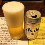 塩生姜らー麺専門店 MANNISH - ドリンク写真:スーパードライ