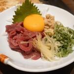 もんじゃ焼 鉄板焼 西屋 - 桜ユッケ