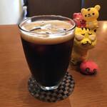 珈琲美人 文月 - 炭焼アイスコーヒー550円(税込)