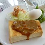 色えんぴつ - モーニング(カレートースト)