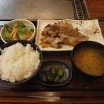 お好み焼き・鉄板焼 太閤さん - 料理写真:日替わり定食500円 豚生姜焼き