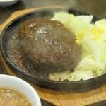 三珍 富士力食堂 - (2020/7月)大玉ハンバーグ