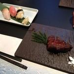 13468691 - ステーキとお寿司3貫