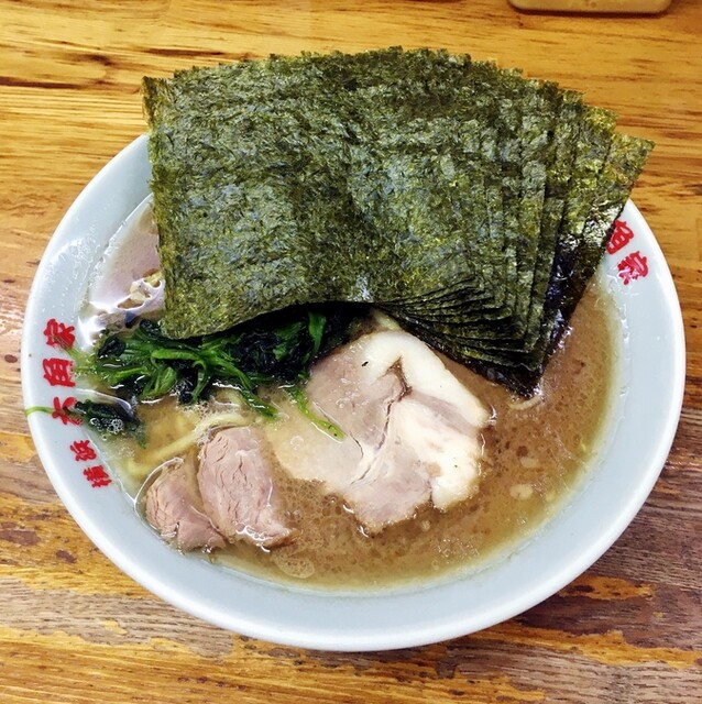 六角家 戸塚店 - ラーメン700円麺硬め。海苔増し100円。